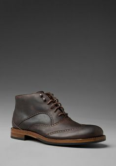 WOLVERINE Wingtip Chukka in Brown - Dress Shoes