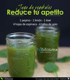 Jugo verde para reducir apetito