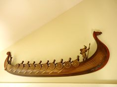 Viking decor! So COOL!!! would love to learn how to make this!!