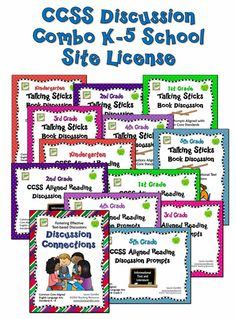 The CCSS Discussion Combo K-5 School Site License includes 13 ebooks written by Laura Candler that specifically address Common Core ELA Information Text and Literature Standards as well as the Speaking and Listening Standards. A school site license grants the purchasing school the right to upload these files to a secured network where they can be accessed by all staff. $