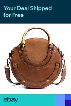 0b5ef12df0ec Circular Scrub PU Leather Women Bags Retro Handbag Small Round Women Should  V8B6 Alexander Wang,