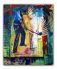 #golfspieler #golfer #golfbilder #abschlag #putten #golf #gemälde #malerei #kunst #golfturnier #turnierpreis