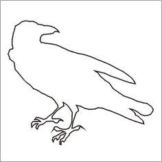 Happy Halloween! 9 Free Printable Stencils: Free Halloween Stencil: Raven