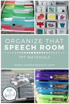 Are you looking for ways to organize all of your amazing TPT speech therapy materials? Look no further! Come see how this SLP keeps her speech room organized!