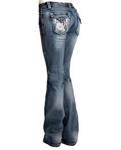 Women's Lacy Cream Cowgirl Tuff Jeans