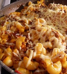 The English Kitchen: Bacon Cheeseburger Skillet Dinner.use gf pasta, and gf tomato soup (I use Heinz tomato soup) Pasta Dishes, Food Dishes, Main Dishes, Pasta Meals, Side Dishes, Slow Cooker Recipes, Cooking Recipes, Pan Cooking, Skillet Cooking