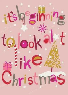 Prep In Your Step: Merry Christmas it is a Holly Jolly Holiday! Noel Christmas, Merry Little Christmas, Pink Christmas, All Things Christmas, Winter Christmas, Vintage Christmas, Christmas Events, Christmas Wishes, Homemade Christmas