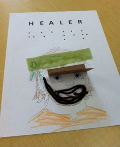 It's the 2nd week our preschoolers will be learning about how God is Healer through looking at how Jesus healed a blind man. This week the 2 and 3 year old children will use some sensory objects such as yarn, fabric, and coloring to decorate the picture of a blind man to remind them of how the man used his other senses before being healed! They will understand the power of Jesus' through healing. To see more of what your kids are doing in Tree House check out www.gracechurchkids.org
