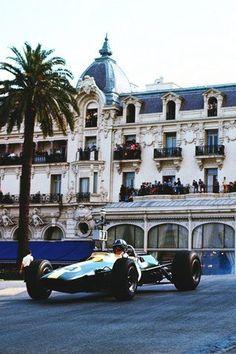 Lotus driver Graham Hill, Monaco Grand Prix, 1967