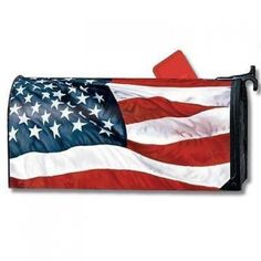 MailWraps Magnetic Mailbox Cover - Stars & Stripes  MailWraps by Magnet Works come in a large variety of original designs by the industry's leading artists. Magnet Works has been making mailbox covers for over 20 years. The magnetic strips make decorating your mailbox as easy as three steps. Easy to apply address numbers are included as well with most designs. These covers are all-weather, reusable, fade resistant, and made in the U.S.A. Matching BreezeArt flags and Yard DeSigns.