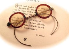 Antique MINIATURE SPECTACLES SAMPLE Bear Doll by DaffodilsVintage, $99.00