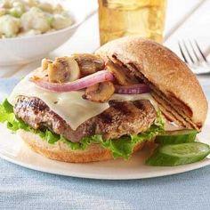 Garlic Mushroom and Swiss Burger - FarmerOwned