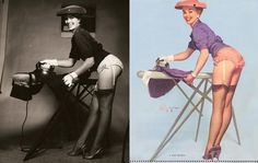 1950s pin up up woman ironing - Google Search