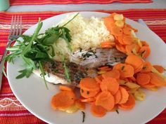 codfish with carrots