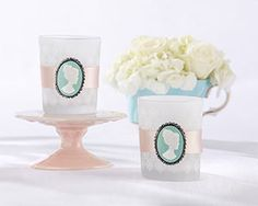 Vintage Cameo Frosted Glass Tealight Holder (Set of 4)