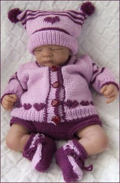 PDF DOWNLOAD KNITTING PATTERN  PLEASE NOTE: This is a set of instructions, not the physical object.  This sale is for the PDF knitting pattern to create my outfit Keira © (Precious Newborn Knits Ref: JH19 You will receive instructions to knit the jacket, short trousers, hat and bootees A fun to knit design using a simple intarsia pattern to create a border of hearts along the back and fronts of the jacket  The hat features a larger heart and is finished with two pom poms at each corner This…