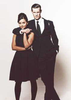 Matt Smith and Jenna Louise Coleman. While I find Clara very flat for a character I adore her little face.