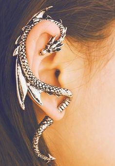 The favourite dragon earring ic seen thus far!  Beautiful!