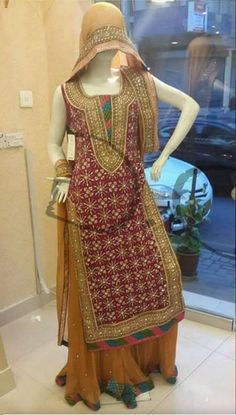Pakistani cultural dress, Pakistani folk dress, typical Punjabi dress, pakistan