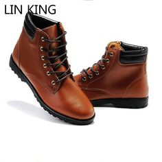 0a45cf47ced63 LIN KING New Spring Autumn Men Fashion Boots Punk Lace Up Ankle Boots Casual  Lace Up. Lacer BottinesBottes pour hommesBottes MartinChaussures ...