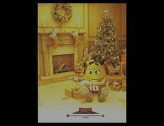 2010 PRINT AD for M&M's Christmas holiday yellow ADVERTISING PAGE #MMs