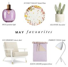 """""""May favourites '16 - Home Decor"""" by rachaelselina ❤ liked on Polyvore featuring interior, interiors, interior design, home, home decor, interior decorating, Alicia Adams and Allstate Floral"""