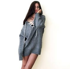 8e02eca662 One piece is ready to go! This grey sweater was made of mix yarn (