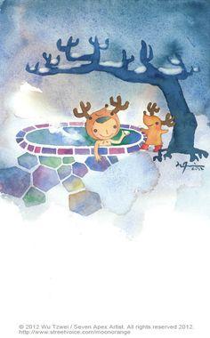 星星幾月開系列-JANUARY 和你一起, 天氣冷冷的,心暖暖的。