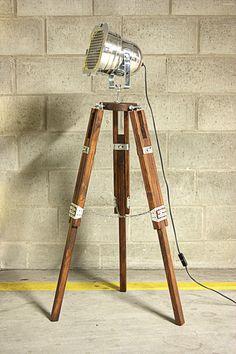 Industrial Floor Lamp TRIPOD Chrom Classic  by ReclaimDesignEVERI, €195.00