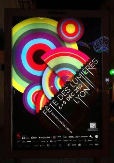 Fête des Lumières 2012 panneau affiche