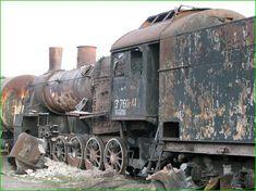 Russian train graveyard