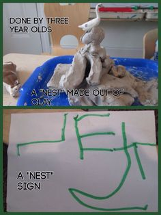 Nests by three year olds