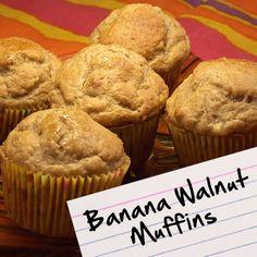 Recipes for Diabetes: Banana Walnut Muffins