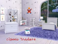Classic Furniture for Toddlers - matching other Classic Furniture by me  Found in TSR Category 'Sims 4 Kids Bedroom Sets'