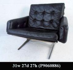 Mid-Century Modern Leather Lounge Chair (P9060886)J