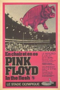 Pink Floyd - Concert Poster (1977) Olympic Stadium Montreal, QC (14 x 22 Inches - 36cm x 56cm) by Concert Posters, http://www.amazon.com/dp/B005US9Q7U/ref=cm_sw_r_pi_dp_7ob5rb0Y12D21
