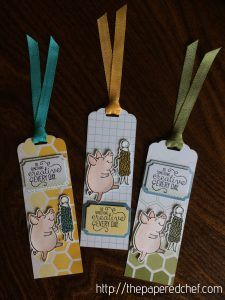 Do Something Creative Every Day - Piggy Bookmarks, tag, bookmark, Color Theory, Crafting Forever, Do Something Creative Every Day, Memories & More, Stampin' Up, This Little Piggy