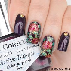 """Reverse stamping with stamping plate ÜC """"The Far East - 02"""" @uberchicbeauty Nail…"""