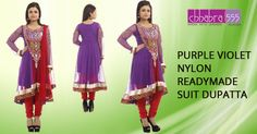 Purple Violet Nylon Readymade Suit Dupatta in @ $73.95 AUD from collections of over 4000 unique products - design, colour and fabric scheme of Chhabra555 in Australia.