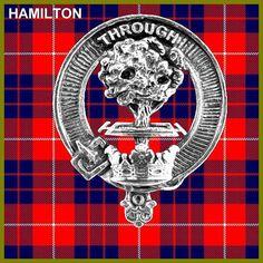 Hamilton Clan Crest Scottish Cap Badge CB02 by celticstudio