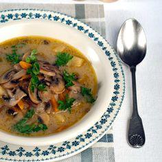 Découvrez la recette de la soupe aux champignons