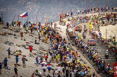Tour de France 2013 stage 15, colourful Bastille Day on Mont Ventoux.