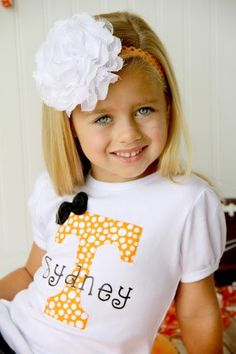 Girls Tennessee UT Vols Shirt Top with by SweetDesignsBtque, $24.95