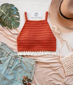 Crochet Summer Tops, Crochet Crop Top, Crochet Blouse, Crochet Bikini, Crochet Bee, Mode Crochet, Crochet Woman, Crochet Patterns Free Women, Crochet Patterns Amigurumi