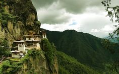 mountains old houses Chinese asian architecture Cliff