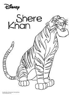 Jungle Book Coloring Sheet- Shere Khan