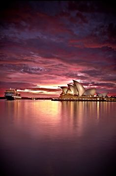 Beautiful sunset on Sydney Harbour and The Opera House Sydney, Australia Places Around The World, Oh The Places You'll Go, Places To Travel, Places To Visit, Around The Worlds, Dream Vacations, Vacation Spots, Beautiful Sunset, Beautiful Places