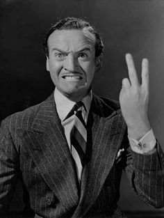 David Niven Flicking The Vs Giving The Two Finger Salute