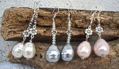 Orecchini perle barocche e cristalli
