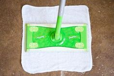 """Make your own swiffer wet pads using 11""""x11"""" cleaning rags. Only 3 simple ingredients!"""